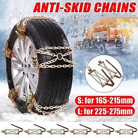 1Pc S/L Anti-skids Chain Wear-resistant Steel Car Truck Off-Road Snow Size L