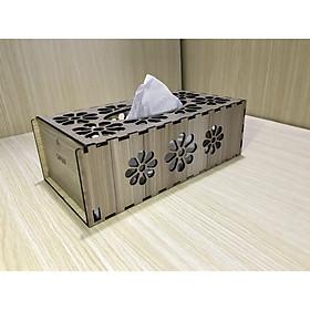 Hộp Đựng Khăn Giấy Ăn Bằng Gỗ Hình Chữ Nhật