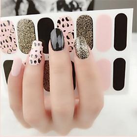 14 miếng dán móng tay nail sticker + kèm dũa