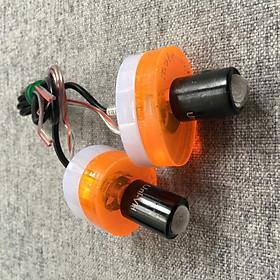 Bô đèn led xi nhan siêu sáng hình oval 2 lớp độc dáo cho xe máy (màu cam)