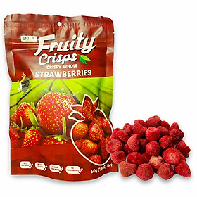 Dâu tây Úc sấy giòn DJ&A Freeze Dried Strawberries 50g