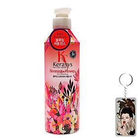 Dầu xả nước hoa KeraSys Blooming& flowery - Hương tuyết tùng và linh lan Hàn Quốc 600ml tặng kèm móc khoá-0