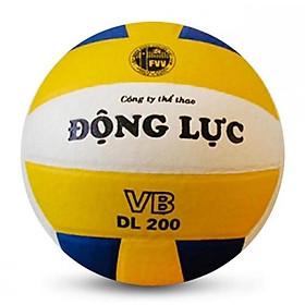 Quả bóng chuyền Động Lực 3 màu DL200 + Kèm bộ kim bơm bóng và lưới đựng bóng