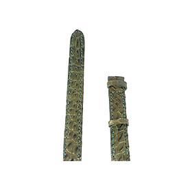 Dây Đồng Hồ Da Cá Sấu Size Nhỏ Huy Hoàng HT8261 - Rêu