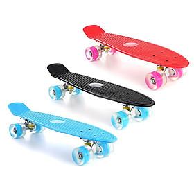 Ván Trượt Skateboard Penny Có Đèn Led Trục Kim Loại To (Giao Màu Ngẫu Nhiên)