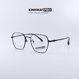Gọng kính nam nữ viền kim loại, gọng kính cận kiểu dáng trẻ trung - Kính mắt Pro