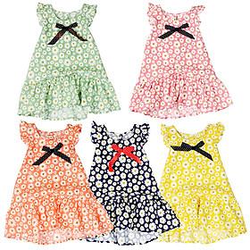 Đầm bé gái size lớn in hoa cúc phong cách vintage cho bé 8 đến 12 tuổi từ 24 đến 36 kg 06735-06739