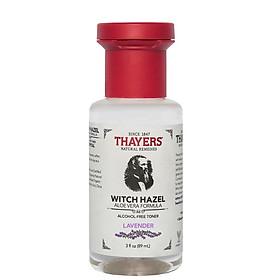 Nước hoa hồng không cồn THAYERS Lavender Witch Hazel Aloe Vera Formula Alcohol-Free Toner 89ml (Mini Size)