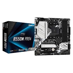 Bo mạch chủ Mainboard ASRock B550M Pro4 Supports 3rd Gen AMD AM4 Ryzen - Hàng Chính Hãng