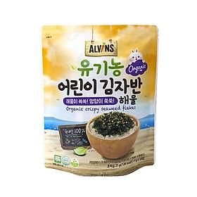 Rong biển hữu cơ rắc lên cơm cho bé vị hải sản vị rau củ - Alvins