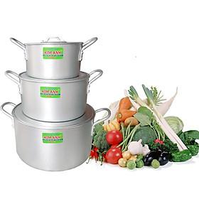 BỘ NỒI KIM ANH bộ 03 cái (03 large pots)