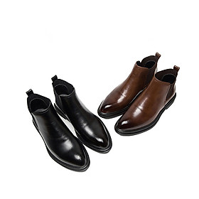 Homme Beatles - Classic Italian Leather Chelsea Boot Troy Dress Boots