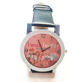 Đồng hồ Twice da Pu đen
