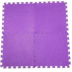Bộ 4 Miếng Thảm Xốp Mềm Lót Sàn Màu tím 60x60cm/miếng