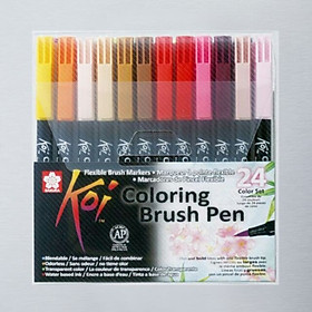 Bút Cọ Màu Koi Coloring Brush Sakura - 24 Màu - XBR - 24