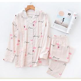 Bộ Pyjama bầu và sau sinh thô đũi Azuno AZ7189 Có Thiết Kế Cho con Bú Mặc Mùa Hè Cực Mát