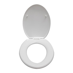 Bộ nắp bàn cầu nhà vệ sinh bằng nhựa cao cấp, thích hợp sử dụng với nhiều loại bồn cầu