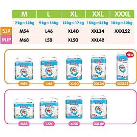 Combo 2 bịch Tã quần Goon Friend Doremon mới gói siêu đại M68 (7kg ~ 12kg)-4