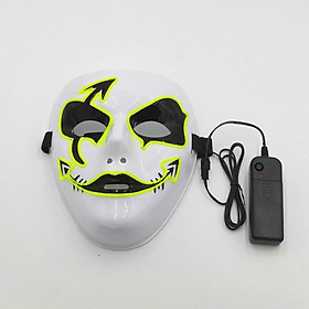 Halloween Glowing Mask Ghost Face Mask Hand-painted Glowing Mask Cosplay Party Scary Mask Glow In Dark Masquerade Decoration