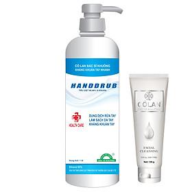 (MUA 1 TẶNG 1) Mua 1 Gel rửa tay khô y tế HANDDRUB Bác Sĩ Khuông 1 lít diệt khuẩn 99.99% Phòng chống virus Corona - Covid - 19 tặng 1 sữa rửa mặt cao cấp Cô Lan Bác Sĩ Khuông