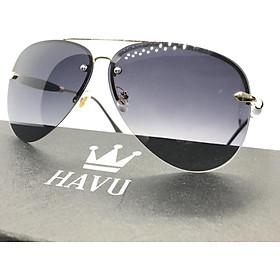 Kính Mắt Nam HAVU thời trang cao cấp đi biển chống bụi mắt kim cương HN1