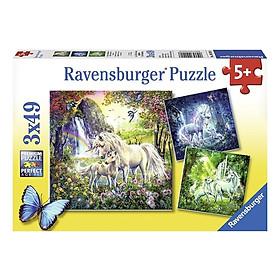 Xếp Hình Puzzle Beautiful Unicorns Ravensburger RV09291 8 (3 x 49 Mảnh)