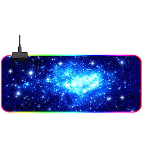 Ling charm RGB magic color mouse pad large game esports office non-slip mouse pad colorful luminous mouse pad computer desk mat 800*300*4MM