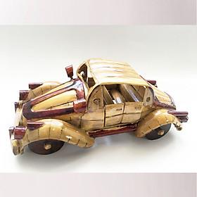 Mô Hình Xe Hơi Citroen Traction Tre Vàng Handmade