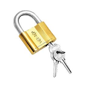 Ổ khóa cửa treo Việt Tiệp đồng vàng 01330 / 1466/38M (0138M) / 0145M / 1466/52M (0152M) / 0163M / 1466/66M (0166M) chất liệu làm từ đồng màu vàng, là loại khóa thông dụng hiện nay tại các hộ gia đình - Thuộc loại khóa treo chìa (khi khóa cần chìa)