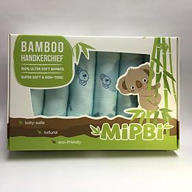 Hộp 6 khăn mặt sợi tre Mipbi cao cấp 100% sợi tre 3 lớp siêu mềm