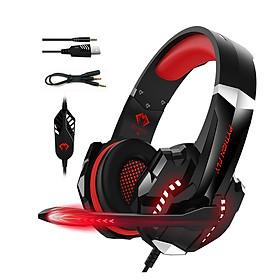 Tai nghe gaming chụp tai PYTHON FLY chống ồn âm thanh stereo cho PS4, PC, Xbox One, PS5, kèm mic đàm thoại, đèn LED, âm bass, vành chụp tai mút mềm cho Laptop Mac-Hàng chính hãng