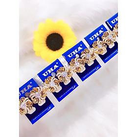 Bông tai nữ hoa xoáy mạ vàng 18k mã 1263AC