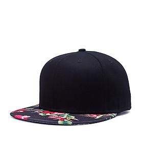 Mũ Snapback Mũ lưỡi trai Thời Trang Đen Trơn  Lưỡi Hoa