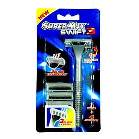 DAO CẠO RÂU 3 LƯỠI SUPERMAX SWIFT 3 (Nhập khẩu từ Ấn Độ - AT282)