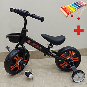 Xe đạp chòi chân cho bé, Xe đạp mini giành cho bé 4 trong 1 kèm giỏ xe Hot Nhất 2021, TẶNG KÈM ĐÀN XYLOPHONE 8 THANH CHO BÉ, Xe chòi chân, xe thăng bằng, xe đạp 2 bánh