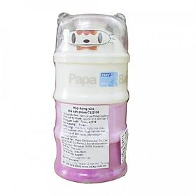 Hộp Đựng Sữa 3 Tầng PAPA Thái Lan (CEQ106)- Màu hồng