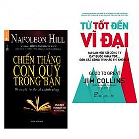 Combo làm giàu hay : Chiến thắng con quỷ trong bạn + Từ tốt đến vĩ đại - Tặng kèm bookmark thiết kế