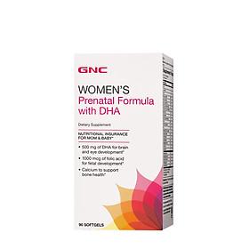 Viên uống Cung cấp DHA và cải thiện sức khỏe cho phụ nữ mang thai GNC Women's Prenatal Formula With DHA *