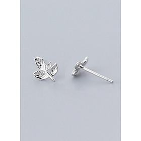 Bông Tai Nữ | Bông Tai Nữ Bạc S925 Hoa Lá B2495 - Bảo Ngọc Jewelry