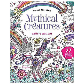 Colour Your Own Gallery Wall Art Mythical Creatures