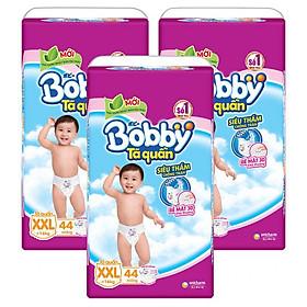 Combo 3 Gói Tã Quần Bobby Gói Siêu Lớn XXL44 (44 Miếng)