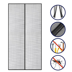 Upgrade Hands Free Magnetic Screen Door Mesh Curtain Keeps Bugs Out Full Frame Magnets with Magic Tape Drill Free