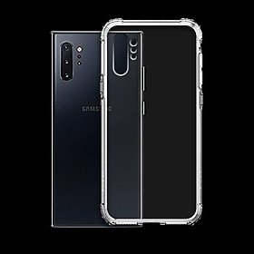 Ốp Lưng Chống Sốc cho Samsung Galaxy Note 10 Plus - Dẻo Trong - Hàng Chính Hãng