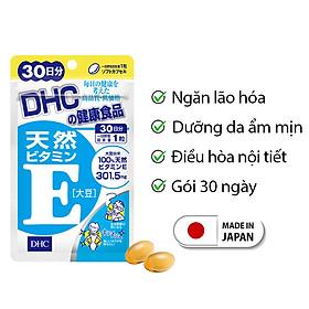 Viên uống Vitamin E DHC Nhật Bản dưỡng ẩm chống lão hoá thực phẩm chức năng làm đẹp da 30 ngày JN-DHC-E30