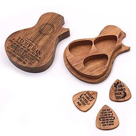 Guitar Pick Suit Wooden Guitar Picks Case Delicate Guitar Picks Guitar Accessories