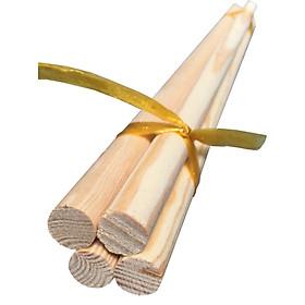 Bó 4 thanh gỗ thông tròn phi 2cm, dài 50cm dùng trang trí văn phòng, nhà ở, rèm cửa