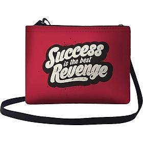 Túi Đeo Chéo Nữ In Hình Success Is The Best Revenge - TUTE077 (24 x 17 cm)