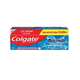 Hộp đôi kem đánh răng Colgate Maxfresh Twin bạc hà 175g/ tuýp