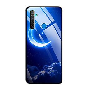 Ốp lưng kính cường lực cho điện thoại Realme 5 - 0220 MOON01 - Hàng Chính Hãng