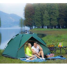 Lều Dã Ngoại Cắm Trại Bật Tự Động, Kích Thước 2M, Cho 3-4 Người, Chống Muỗi, Chống Nước, Chống Nắng Cao Cấp